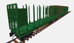 Multifunctional platform for 1,520 mm rail – long good (model)