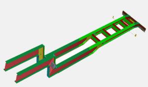 Рама полуприцепа (модель)
