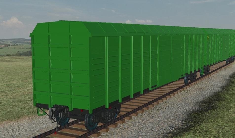 Универсальный крытый вагон с осевой нагрузкой 25 т (модель)